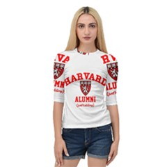 Harvard Alumni Just Kidding Quarter Sleeve Raglan Tee