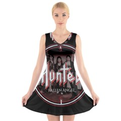 Fallen Angel Hunted V Neck Sleeveless Skater Dress