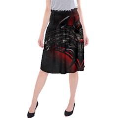 Black Dragon Grunge Midi Beach Skirt