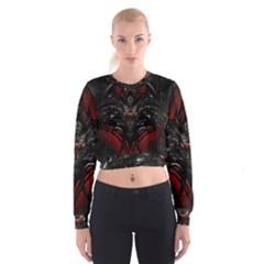 Black Dragon Grunge Cropped Sweatshirt