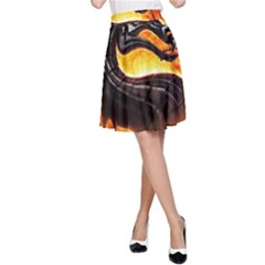 Dragon And Fire A Line Skirt