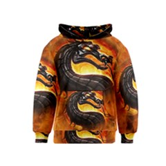 Dragon And Fire Kids  Pullover Hoodie
