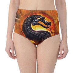 Dragon And Fire High Waist Bikini Bottoms