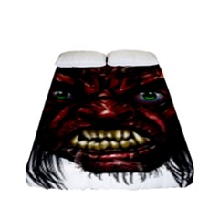Krampus Devil Face Fitted Sheet (full/ Double Size)