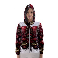 Krampus Devil Face Hooded Wind Breaker (women)