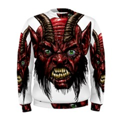 Krampus Devil Face Men s Sweatshirt