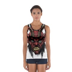 Krampus Devil Face Sport Tank Top