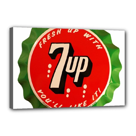 Fresh Up With  7 Up Bottle Cap Tin Metal Canvas 18  X 12