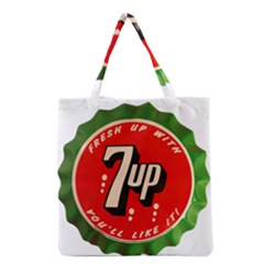 Fresh Up With  7 Up Bottle Cap Tin Metal Grocery Tote Bag