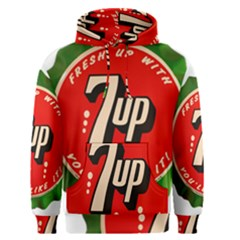 Fresh Up With  7 Up Bottle Cap Tin Metal Men s Pullover Hoodie