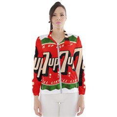 Fresh Up With  7 Up Bottle Cap Tin Metal Wind Breaker (women)