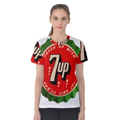 Fresh Up With  7 Up Bottle Cap Tin Metal Women s Cotton Tee
