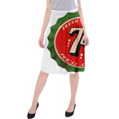 Fresh Up With  7 Up Bottle Cap Tin Metal Midi Beach Skirt