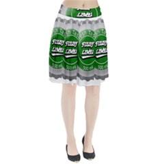 Fresh Taste Fizzy Lime Bottle Cap Pleated Skirt