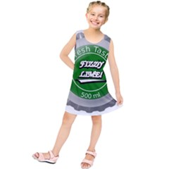 Fresh Taste Fizzy Lime Bottle Cap Kids  Tunic Dress
