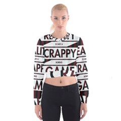 Reality Is Just A Crappy  Boring Game Cropped Sweatshirt