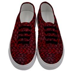 Classic Blocks,red Men s Classic Low Top Sneakers