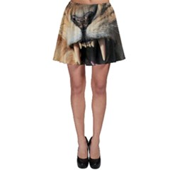 Male Lion Angry Skater Skirt