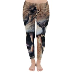 Male Lion Angry Classic Winter Leggings