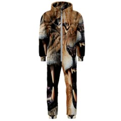Male Lion Angry Hooded Jumpsuit (men)