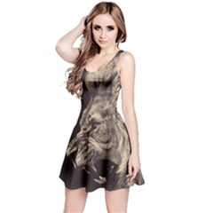 Angry Male Lion Reversible Sleeveless Dress
