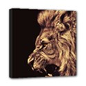 Angry Male Lion Gold Mini Canvas 8  x 8  View1
