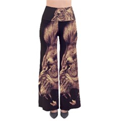 Angry Male Lion Gold Pants