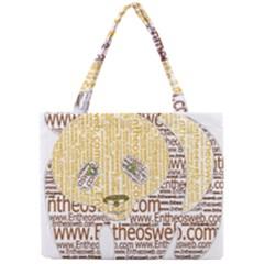 Panda Typography Mini Tote Bag