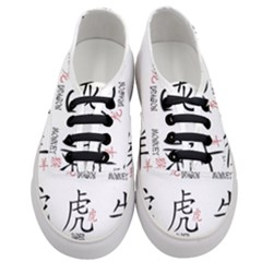 Chinese Zodiac Signs Women s Classic Low Top Sneakers