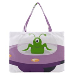 Ufo Zipper Medium Tote Bag