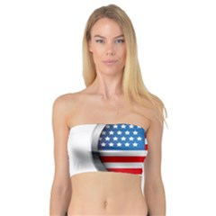 United Of America Usa Flag Bandeau Top