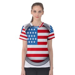 United Of America Usa Flag Women s Cotton Tee