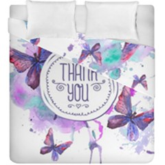 Thank You Duvet Cover Double Side (king Size)
