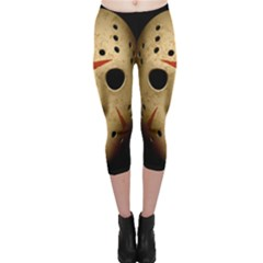Jason Hockey Goalie Mask Capri Leggings