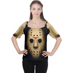Jason Hockey Goalie Mask Cutout Shoulder Tee