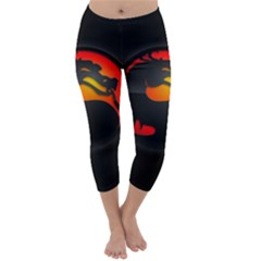 Dragon Capri Winter Leggings