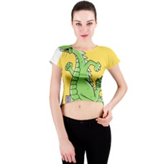 Dragon Crew Neck Crop Top