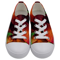 Abstract Acryl Art Kids  Low Top Canvas Sneakers