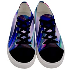 Abstract Acryl Art Men s Low Top Canvas Sneakers