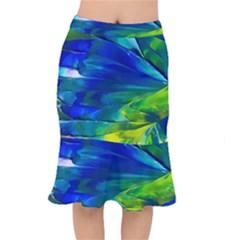 Abstract Acryl Art Mermaid Skirt