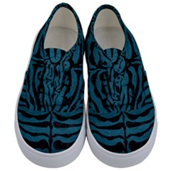 Skin2 Black Marble & Teal Leather Kids  Classic Low Top Sneakers