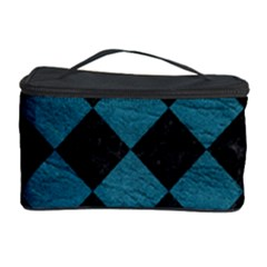 Square2 Black Marble & Teal Leather Cosmetic Storage Case