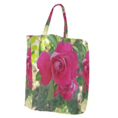 Romantic Red Rose Photography Giant Grocery Zipper Tote