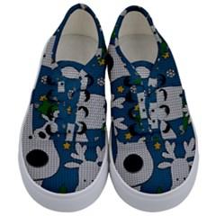Cute Reindeer  Kids  Classic Low Top Sneakers