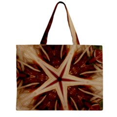 Spaghetti Italian Pasta Kaleidoscope Funny Food Star Design Zipper Mini Tote Bag