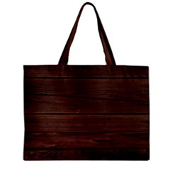 Rustic Dark Brown Wood Wooden Fence Background Elegant Zipper Mini Tote Bag
