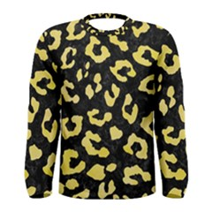 Skin5 Black Marble & Yellow Watercolor Men s Long Sleeve Tee