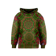 Feathers And Gold In The Sea Breeze For Peace Kids  Pullover Hoodie