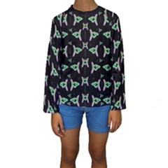 Fishes Talking About Love And Stuff Kids  Long Sleeve Swimwear