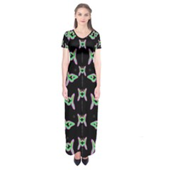 Fishes Talking About Love And Stuff Short Sleeve Maxi Dress